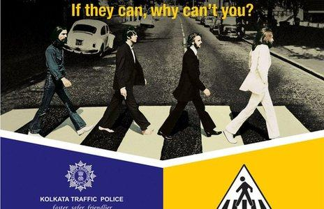 Indian Police Use Beatles' 'Abbey Road' Cover To Promote Road Safety