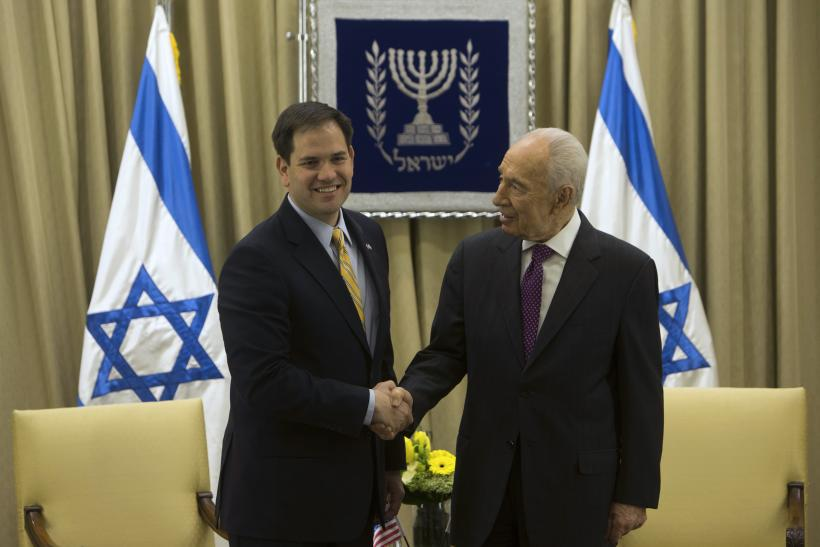 Marco Rubio with Shimon Peres