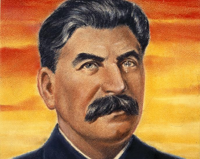 Propaganda picture of Joseph Stalin