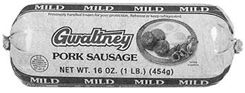 Gwaltney mild pork sausage roll