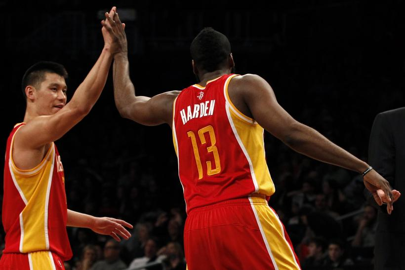 Jeremy Lin James Harden Houston Rockets