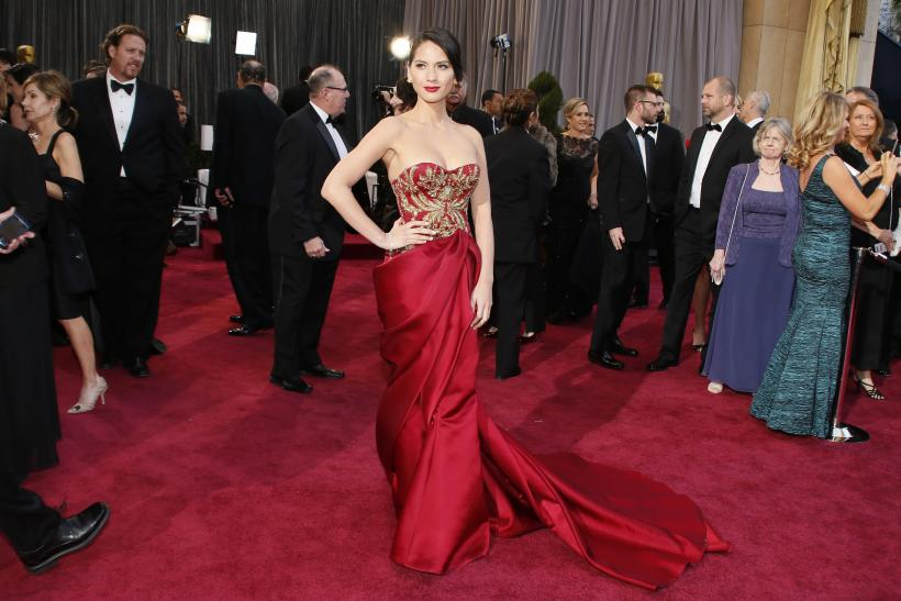 Olivia Munn in Marchesa