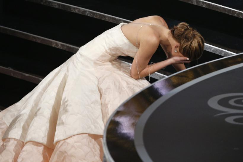 Jennifer Lawrence's Oscar Fall