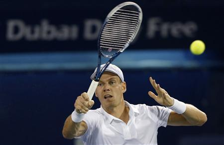 Berdych Downs Federer To Reach Dubai Final