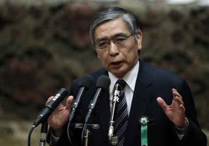 The Japan government's nominee for the Bank of Japan (BOJ) governor Haruhiko Kuroda
