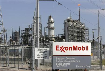 Exxon Mobil Refinery In Houston