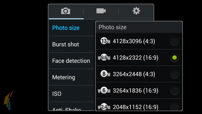 Samsung Galaxy S4 screenshots