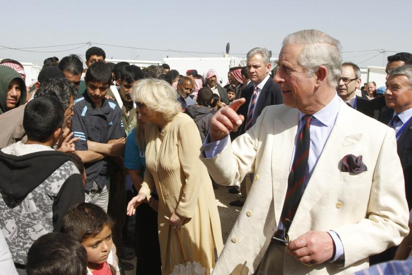 Prince Charles and Camilla greet Syrian refugees in Jordan