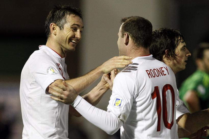 Wayne Rooney and Frank Lampard