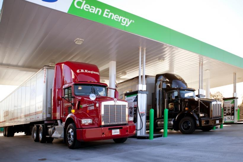 Trucks-at-natural-gas-fueling-station