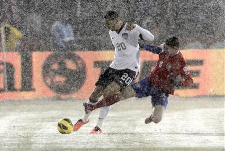 Dempsey Leads U.S. To Win In Snow