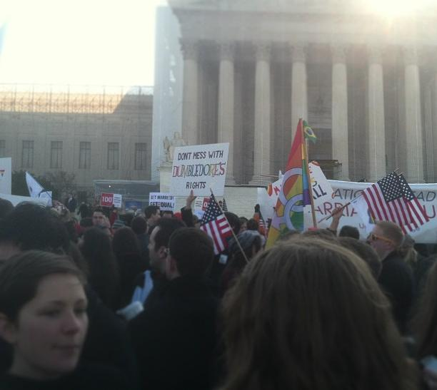Protestors Outside of Supreme Court