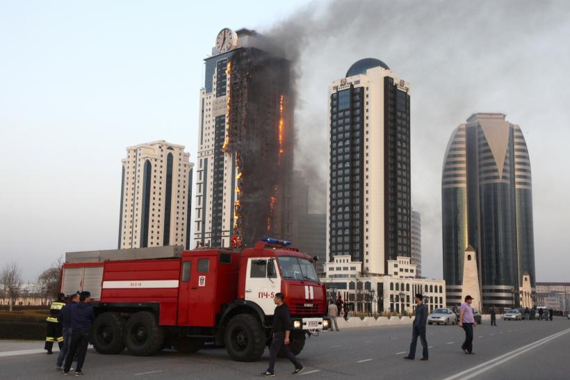 Grozny-City complex fire