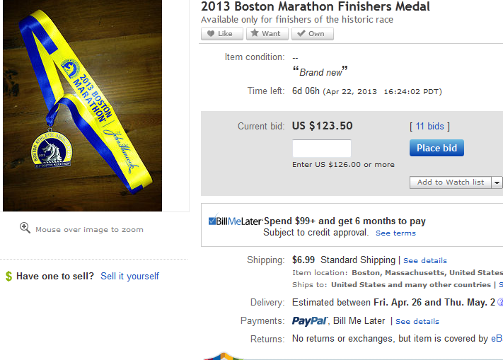 Alleged looted Boston Marathon medals