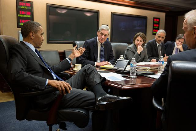 President Obama Being Briefed