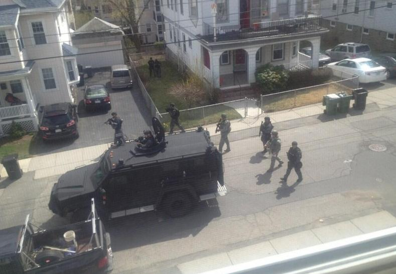 Boston police lockdown
