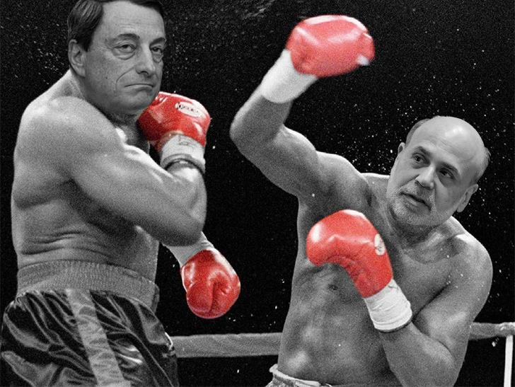 Draghi VS Bernanke v2
