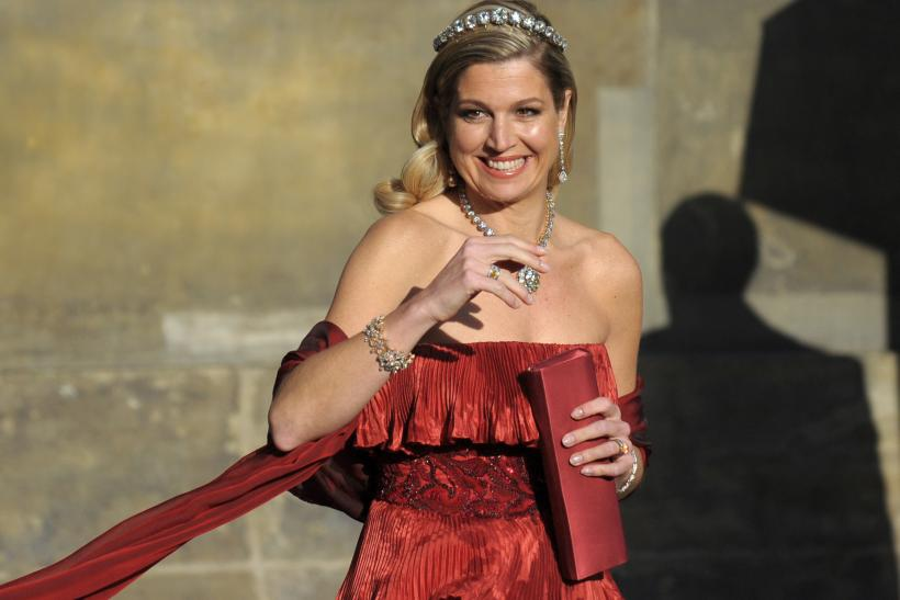 Queen Maxima of the Netherlands in red