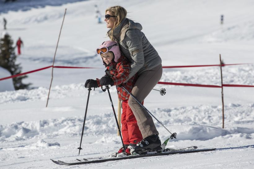 Queen Maxima of the Netherlands skiing