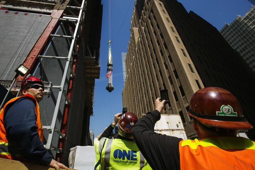 One World Trade Center Spire Raising