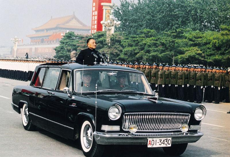 Deng Xiaoping in Hongqi Vehicle