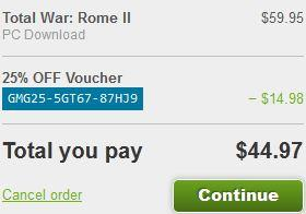 Get Total War: Rome 2 25% Off