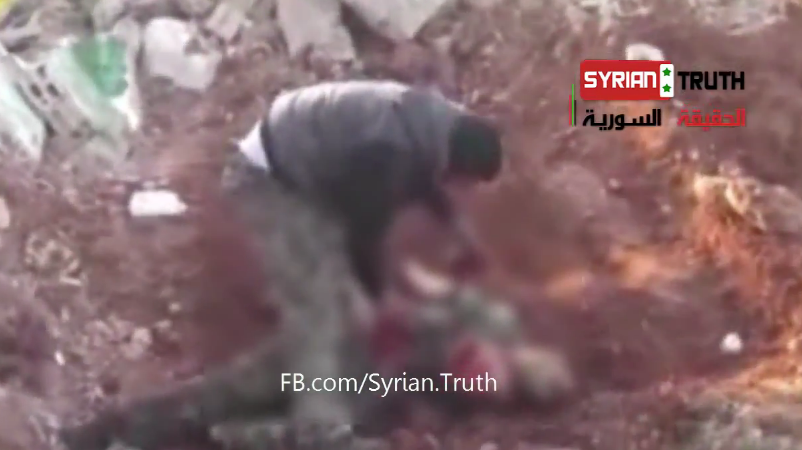 Syrian Rebel Eating Soldier's Heart
