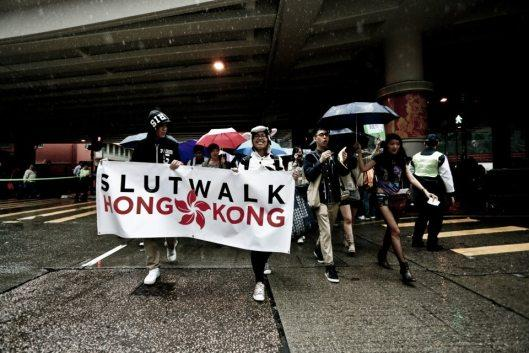 Anti-rape protesters in Hong Kong
