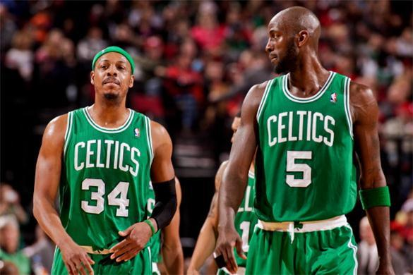 Paul Pierce and Kevin Garnett walk into an uncertain future with the Boston-Celtics