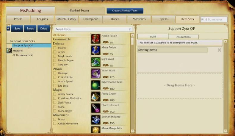'League Of Legends' Item Sets