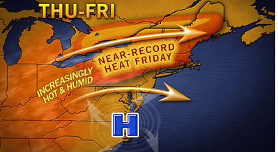 Heat Wave Hitting East Coast Wednesday