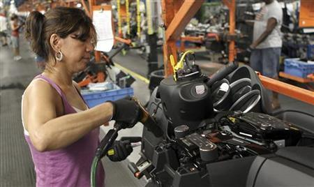 Female U.S. auto factory worker