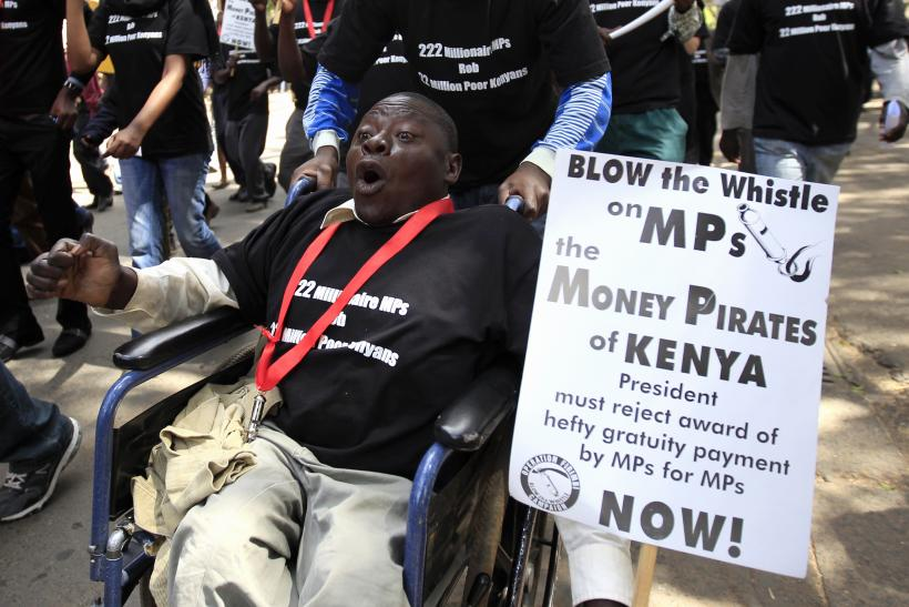 Kenyans protest MPs proposed salary increases