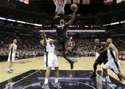 Heat Even Series Behind Big Three Outburst
