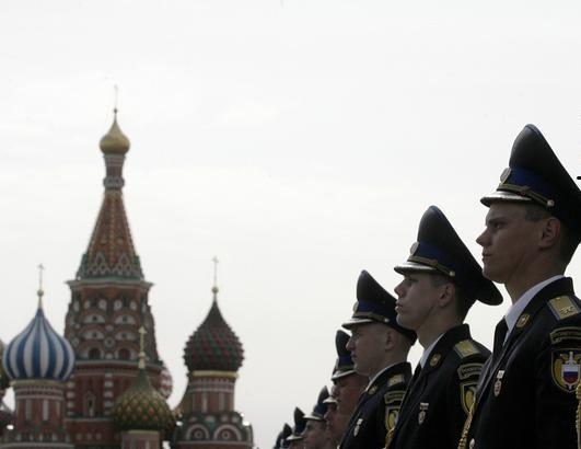 Moscow Red Square officers Getty 2