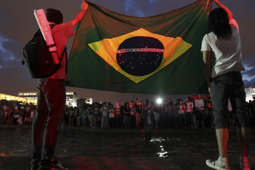 Brazil Protests Flag