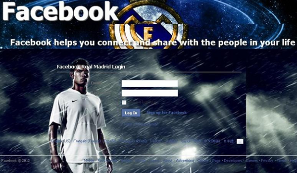 Real Madrid fake login