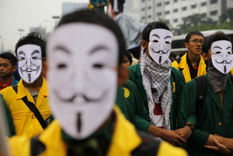 Anonymous Masks In Indonesia