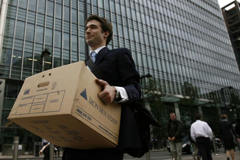 Worker Leaving Lehman Brothers