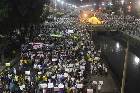 Brazil Deals With Mass Protests, Plunging Currency