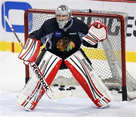 Chicago Goalie Learns Praise Can Be Fleeting In Playoffs