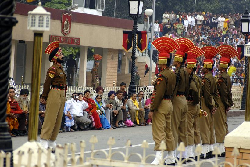 Border ceremony at Wagah