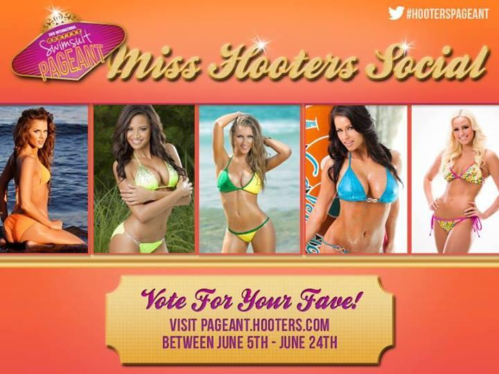 for the 2013 Hooters International Swimsuit Pageant in Las Vegas
