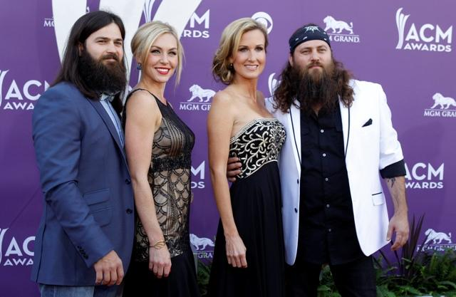 "The cast from the ""Duck Dynasty"" reality television series arrive at"