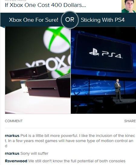 PS4 Xbox One Poll