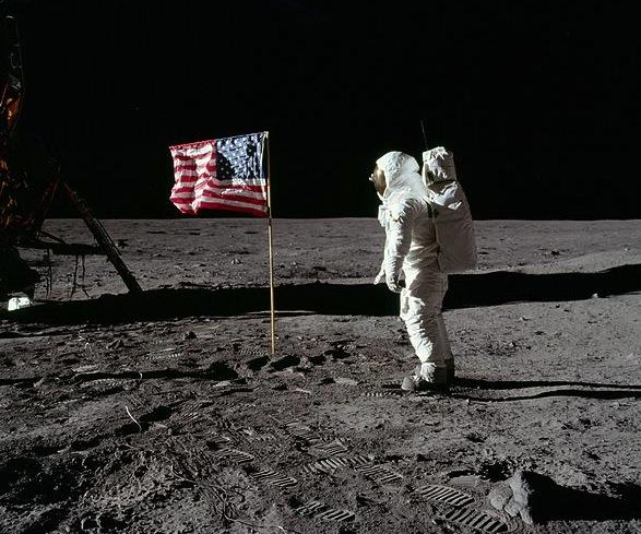 man on the moon flag
