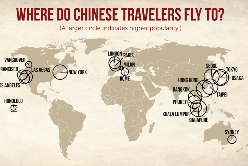 Chinese Tourist Travel Map