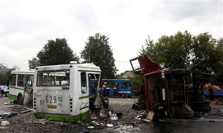 18 Dead, 25 Injured In Bus-Truck Crash Outside Moscow