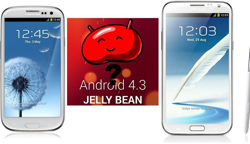 Galaxy S3 and Galaxy Note 2 get Android 4.3