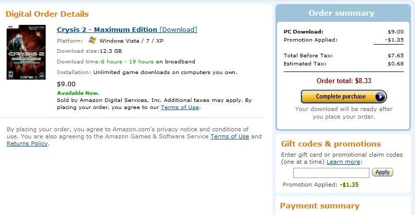 Crysis 2 Max Edition Amazon